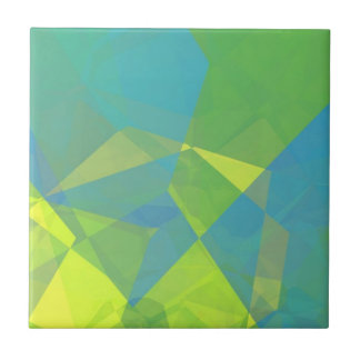 Polígonos abstractos 191 azulejo cuadrado pequeño