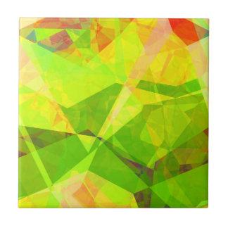 Polígonos abstractos 193 azulejo cuadrado pequeño