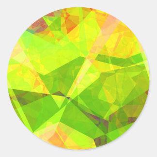Polígonos abstractos 193 etiquetas redondas