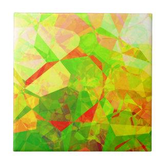 Polígonos abstractos 203 azulejo cuadrado pequeño