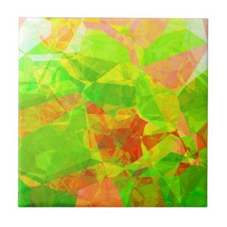 Polígonos abstractos 208 azulejo cuadrado pequeño