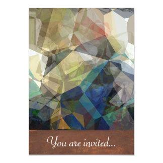 """Polígonos abstractos 217 invitación 5"""" x 7"""""""