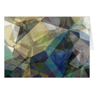 Polígonos abstractos 217 tarjeta de felicitación