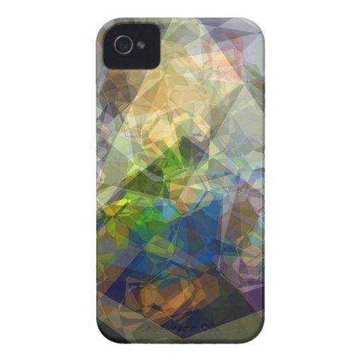 Polígonos abstractos 222 Case-Mate iPhone 4 funda