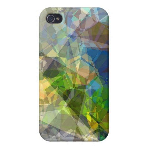 Polígonos abstractos 222 iPhone 4 protectores