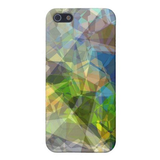 Polígonos abstractos 222 iPhone 5 carcasas