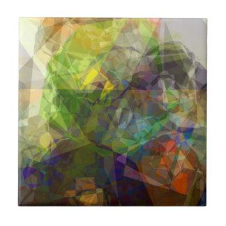 Polígonos abstractos 226 azulejo cuadrado pequeño