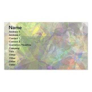 Polígonos abstractos 226 tarjetas de visita