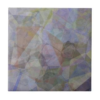 Polígonos abstractos 35 azulejo cuadrado pequeño