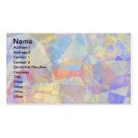 Polígonos abstractos 36 tarjetas personales