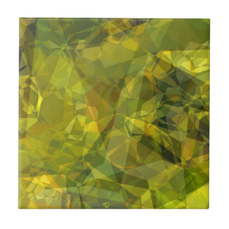 Polígonos abstractos 3 azulejo cuadrado pequeño