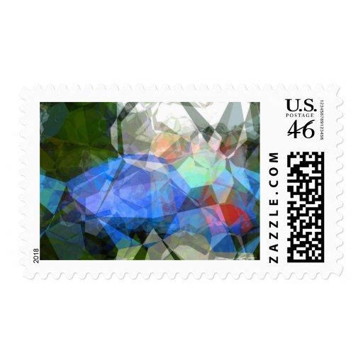 Polígonos abstractos 41 sello
