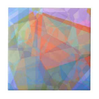 Polígonos abstractos 44 azulejo cuadrado pequeño