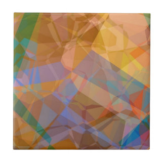 Polígonos abstractos 49 azulejo cuadrado pequeño