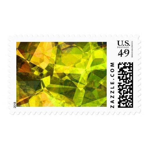 Polígonos abstractos 4 sello
