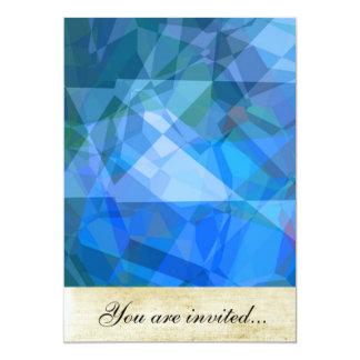 """Polígonos abstractos 51 invitación 5"""" x 7"""""""