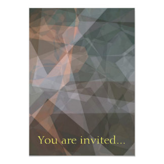 """Polígonos abstractos 68 invitación 5"""" x 7"""""""
