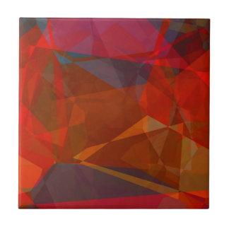 Polígonos abstractos 82 azulejo cuadrado pequeño