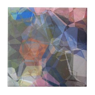 Polígonos abstractos 87 azulejo cuadrado pequeño