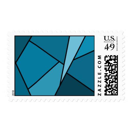 Polígonos abstractos del trullo - medio sello