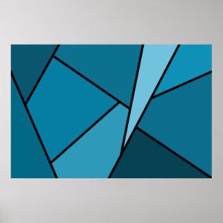 Polígonos abstractos del trullo póster