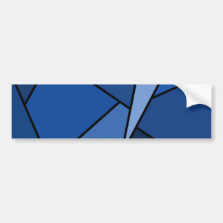 Polígonos azules abstractos pegatina de parachoque