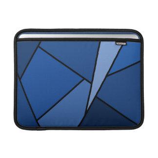 Polígonos azules abstractos fundas para macbook air