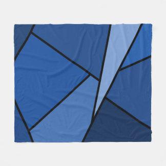 Polígonos azules abstractos manta de forro polar