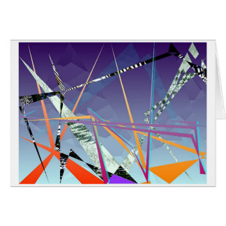 polígonos contrastivos #1 tarjeta de felicitación