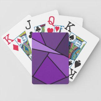 Polígonos púrpuras abstractos barajas