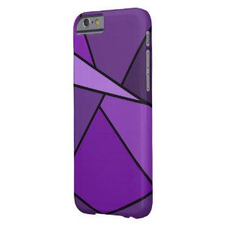 Polígonos púrpuras abstractos funda de iPhone 6 barely there