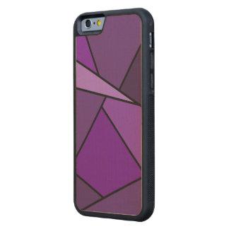 Polígonos púrpuras abstractos funda de iPhone 6 bumper arce