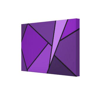 Polígonos púrpuras abstractos lona envuelta para galerias