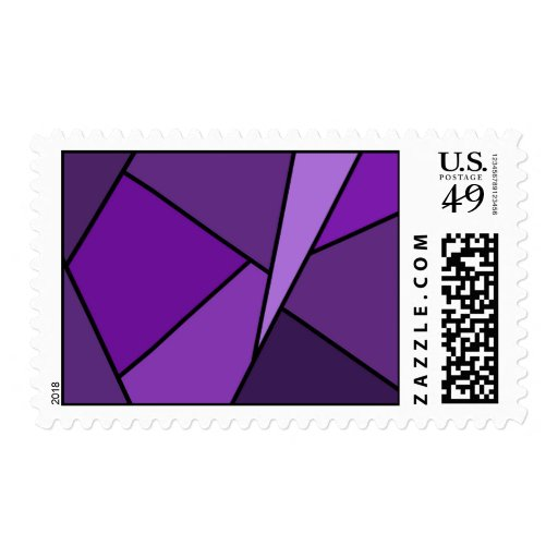 Polígonos púrpuras abstractos - medio sellos