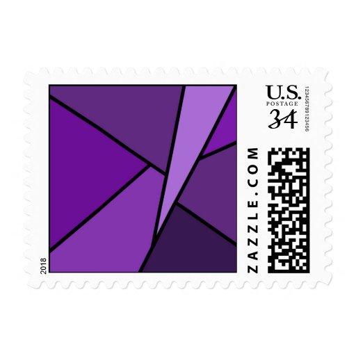 Polígonos púrpuras abstractos - pequeños sellos