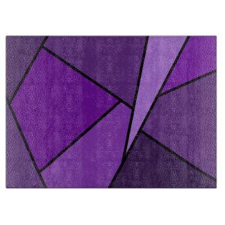 Polígonos púrpuras abstractos tabla de cortar