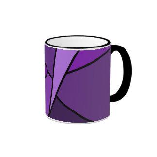 Polígonos púrpuras abstractos tazas