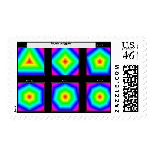 polígonos regulares sello