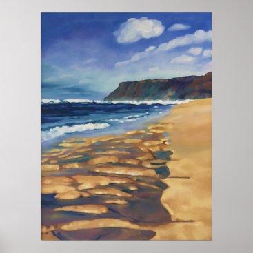 Hawaiian Themed Polihale Beach Poster
