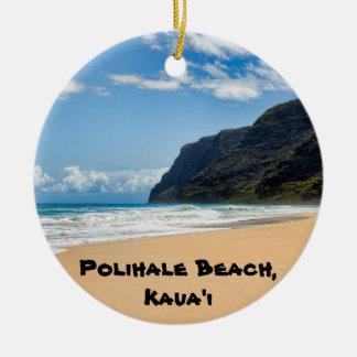 Polihale Kaua'i Keepsake Double-Sided Ceramic Round Christmas Ornament