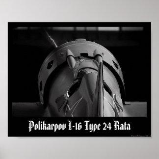 Polikarpov I-16 Type 24 Rata Poster