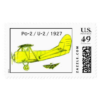 Polikarpov Po-2, Russian Trainer Aircraft 1927/28 Postage Stamp
