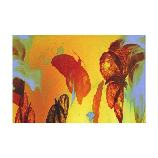 Polilla a la lona estirada extracto de la llama lienzo envuelto para galerias