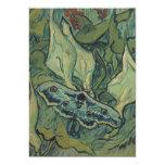 Polilla de emperador de Vincent van Gogh Invitación 12,7 X 17,8 Cm