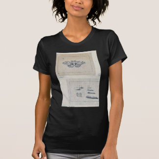 Polilla de gusano de seda y etapas larvales del gu camiseta