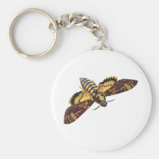 Polilla de halcón de la cabeza de muerte llavero redondo tipo pin