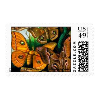Polilla de seda sellos postales