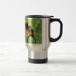 polilla del vapourer (oruga) taza de viaje de acero inoxidable