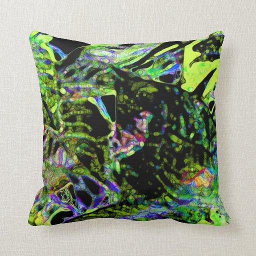 polilla en diseño de neón oscuro del extracto de l almohada