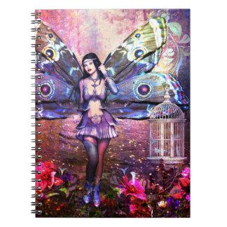 Polilla gitana de hadas de la fantasía colorida notebook